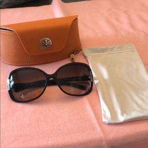 Brown and tan Tory Burch Sunglasses